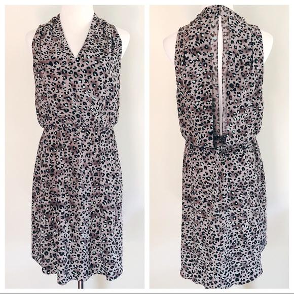 98fae98f83 Rebecca Taylor Leopard Print Silk Bobcat Dress. M 5a89a031077b97d5180fbd75